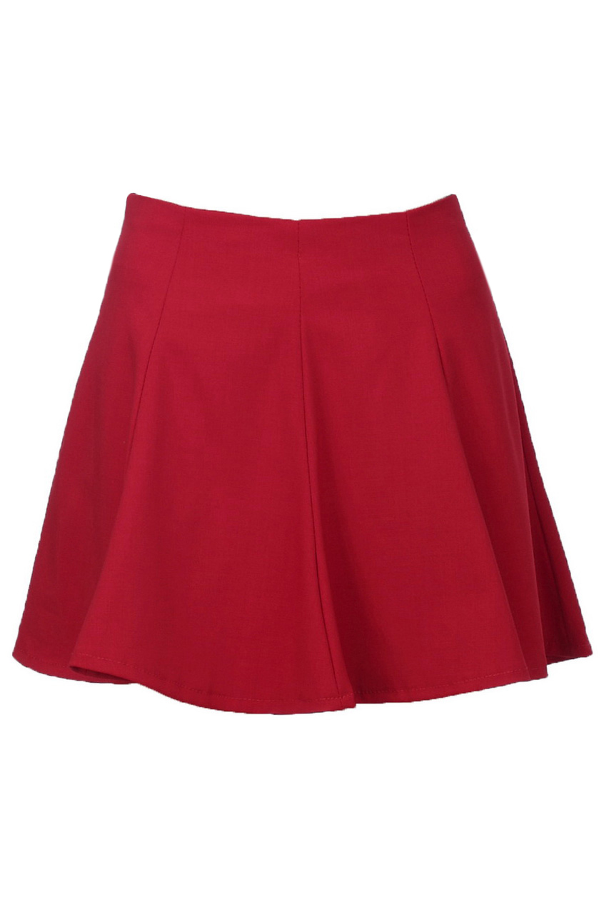 Retro Ruffle Red Skirt, The Latest Street Fashion