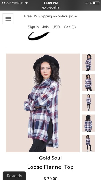 blouse flannel plaid flannel flannel top