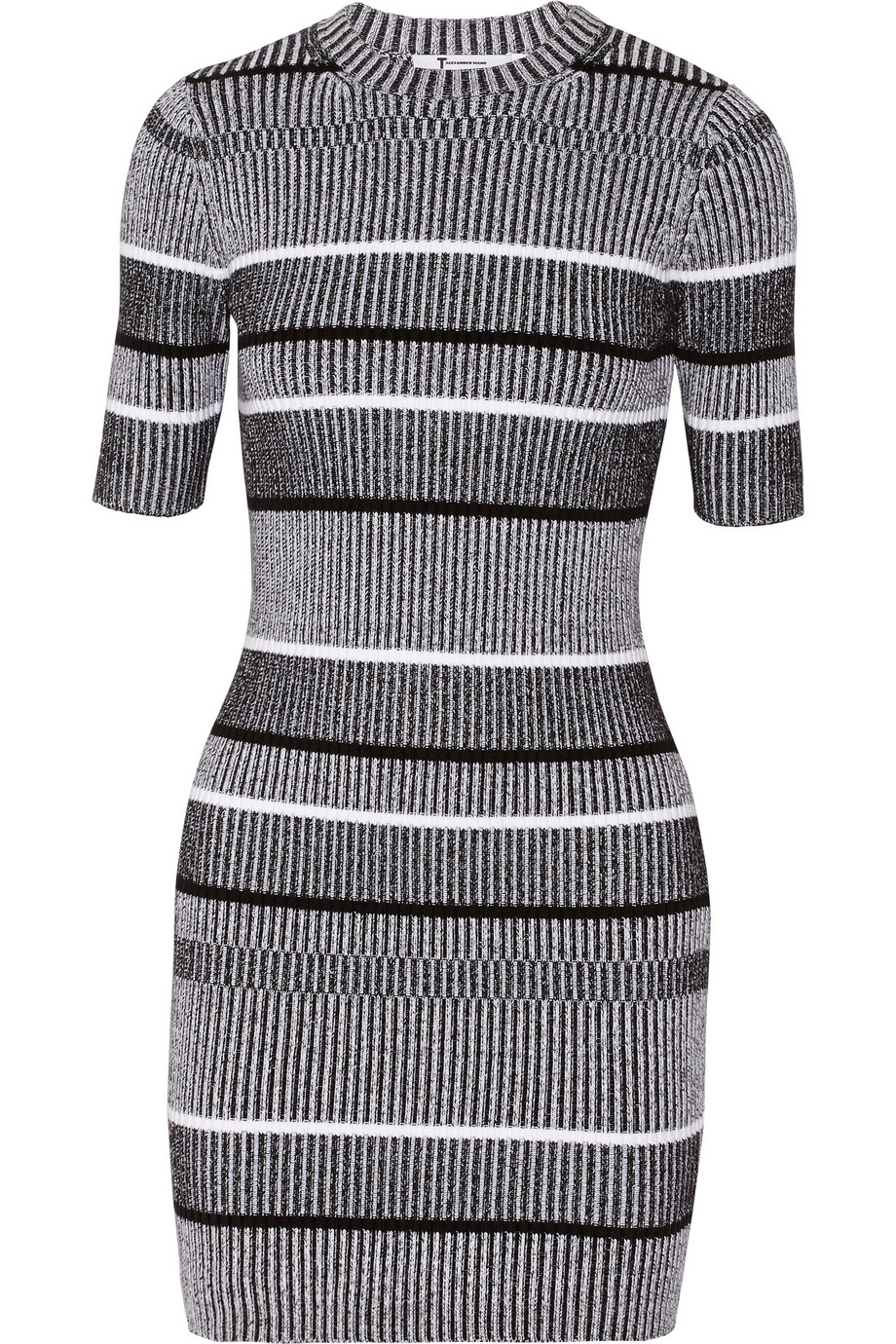 18044b23d6 T by Alexander Wang Ribbed-knit cotton-blend mini dress – 50% at THE  OUTNET.COM