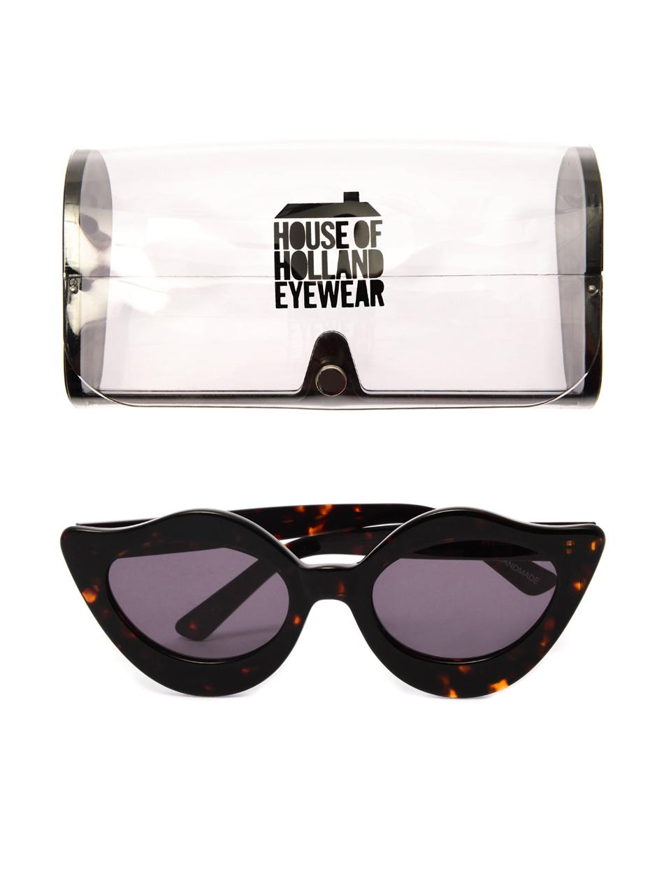 Lipstick tortoiseshell sunglasses | House Of Holland | MATCHES...