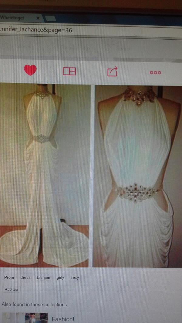 white dress formal dress prom dress