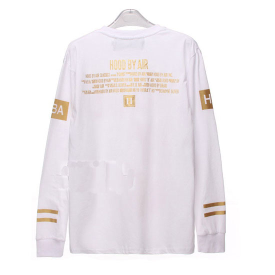 Hood By Air Foil Printing Long Sleeve Tee White [Hood by Air long sleeve] - $32.00 : Affliction clothing sale online,wholesale Affliction clothing online, Affliction clothing