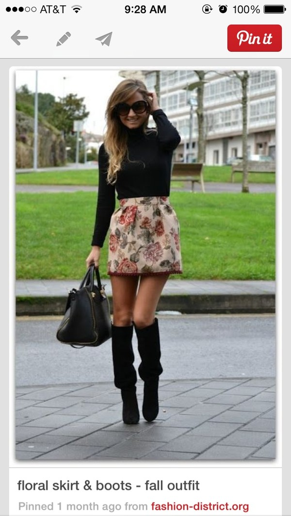 skirt floral skirt floral blouse shoes floral skirt floral print skirt structured autumn/winter