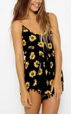 Sunflower Playsuit - Juicy Wardrobe