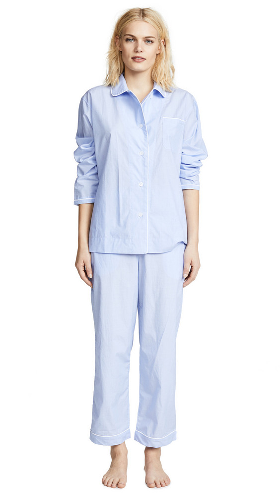 Sleepy Jones End On End Bishop Pajama Set in blue