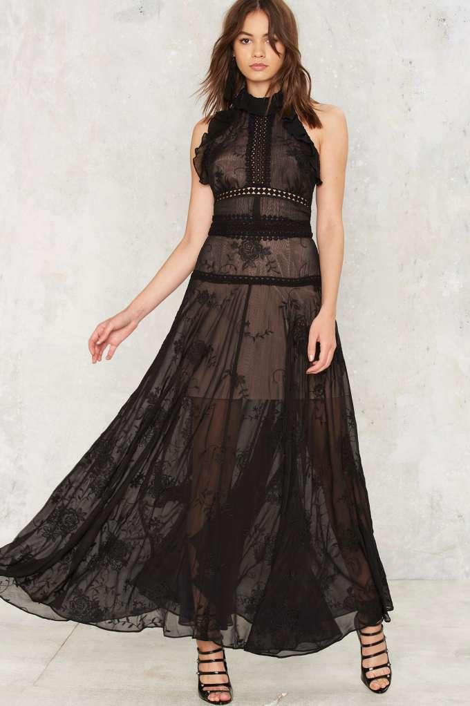 Nasty Gal Got the Flirt Maxi Dress