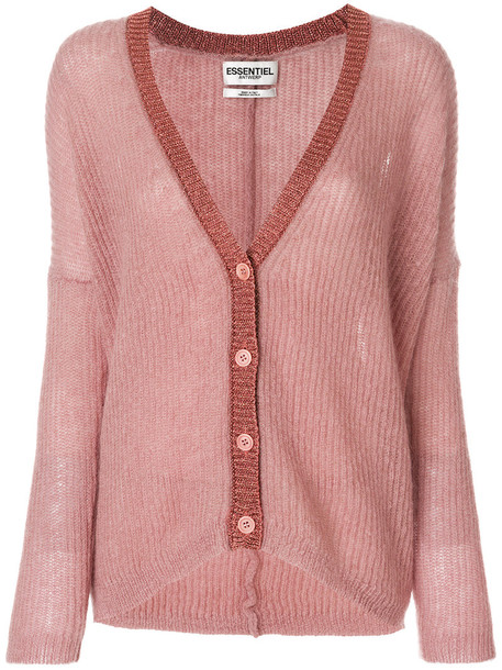 ESSENTIEL ANTWERP cardigan knitted cardigan cardigan women mohair wool purple pink sweater