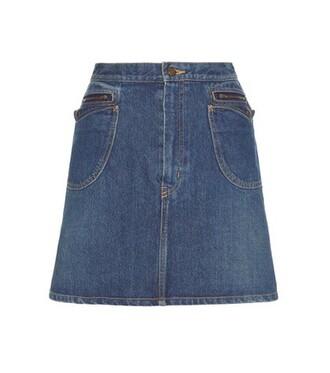miniskirt denim blue skirt