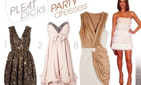 jessica alba dress party glitter glamour party dress brown shimmery white sparkly dress baby pink bow fringes high heels puff dress v cut neck dress