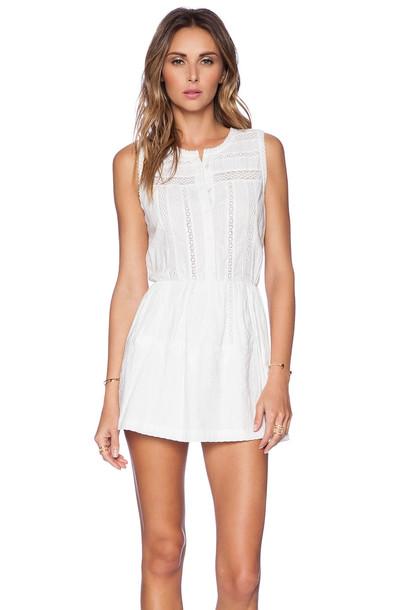 TULAROSA dress white