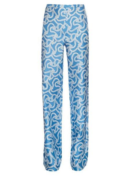 white blue pants