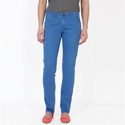 Pantalon slim peau de pêche coloris bleu - Collection Slim - Pimkie France