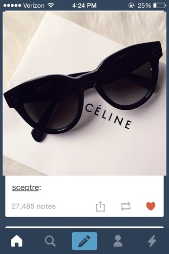 sunglasses celine cats black dress summer