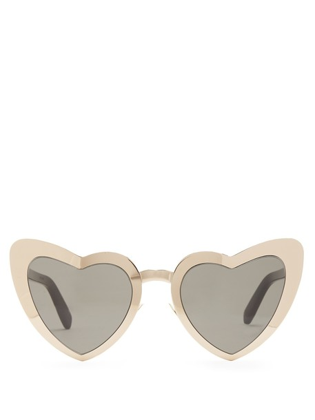 heart metal sunglasses gold