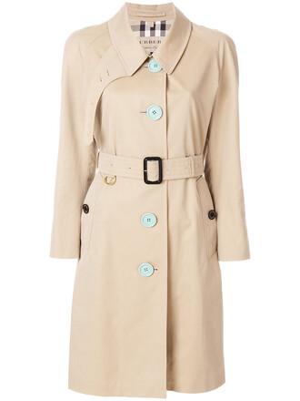 coat trench coat women nude cotton