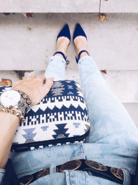 fashion coolture blogger aztec pouch