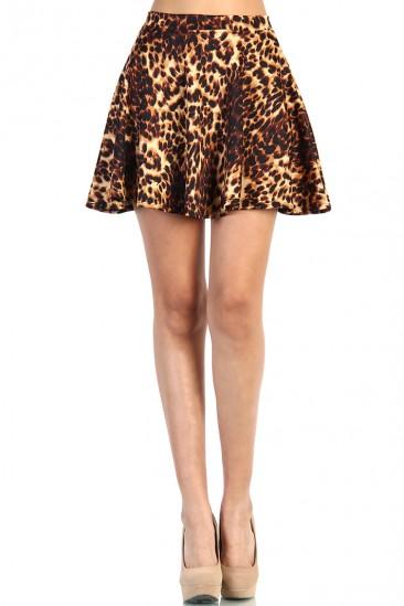 LoveMelrose.com From Harry & Molly   Leopard Skater Skirt