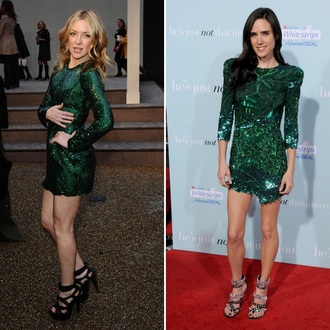 sequin dress green kate hudson jennifer connelly
