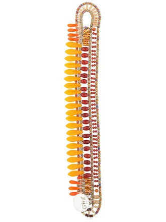 beaded bracelet beaded orange jewels