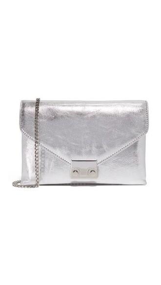 clutch silver bag