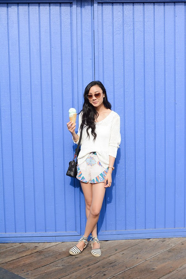 swellmayde sweater shorts shoes sunglasses