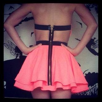 skirt pink dress