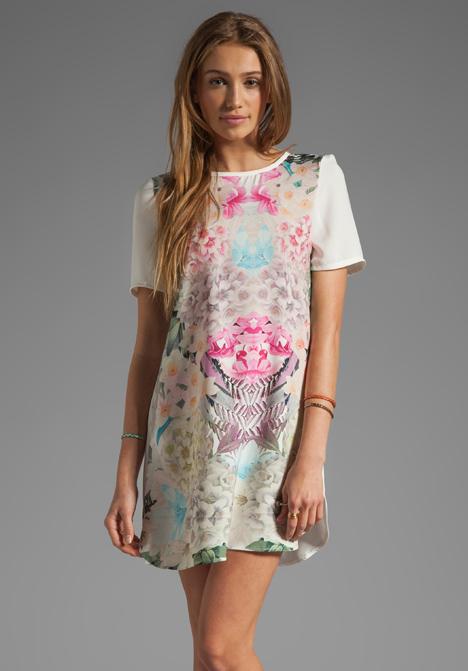Dress in white secret garden bright at revolve clothing free
