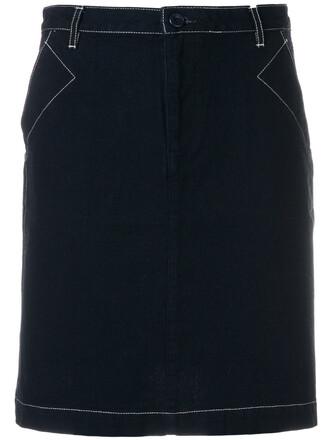 skirt short skirt short women cotton blue