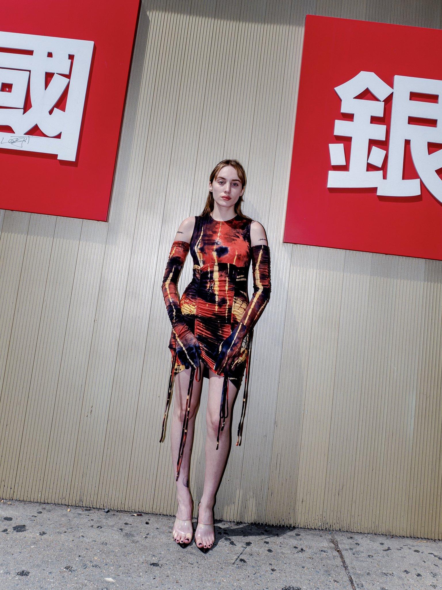 Multi Dye Mini Dress