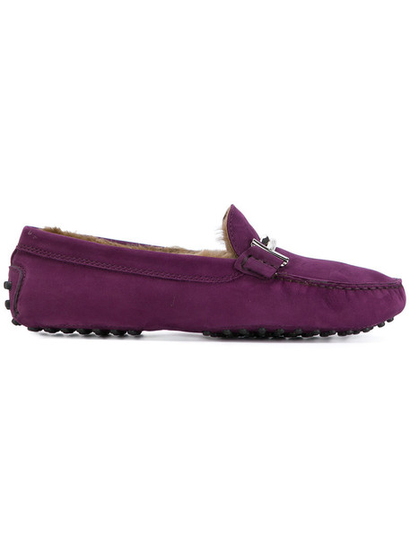 fur women loafers suede purple pink shoes