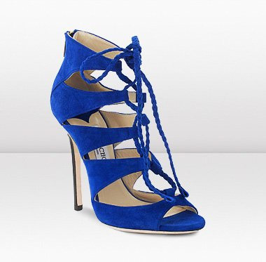 Blue High Heel Sandals - Qu Heel