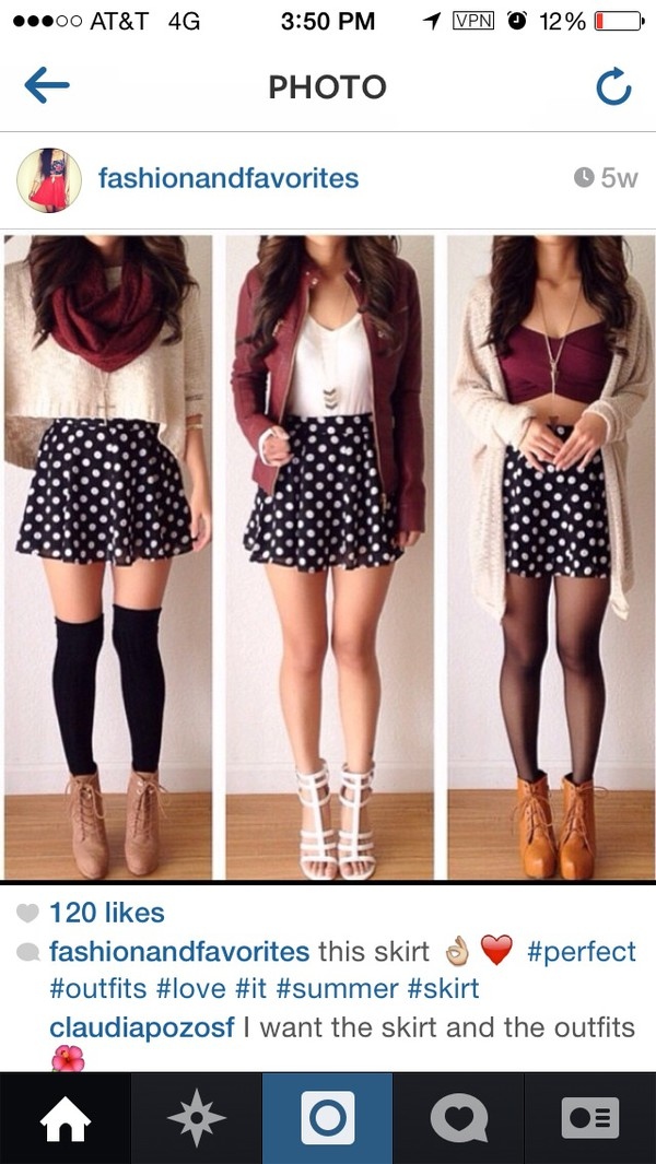 sweater cardigan socks skirt