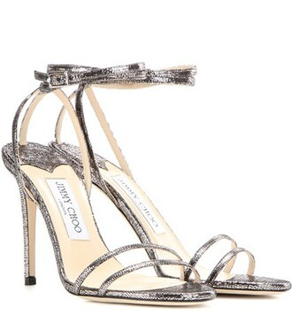 metallic 100 sandals leather sandals leather silver shoes