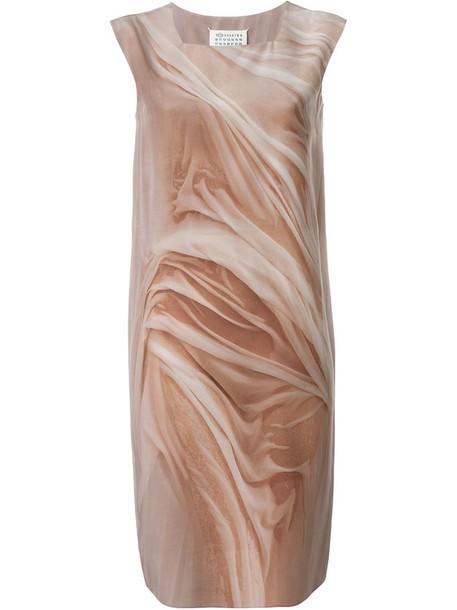 MAISON MARGIELA dress shift dress women nude print silk