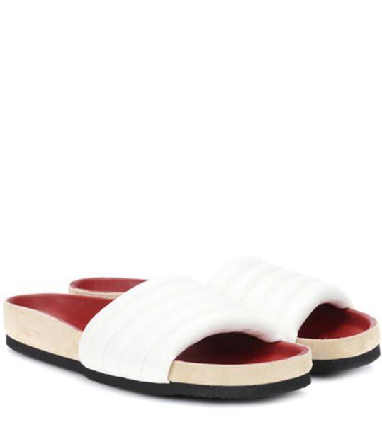 Isabel Marant leather white shoes