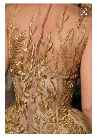 dress long prom dress gold detailed lace detailed dress