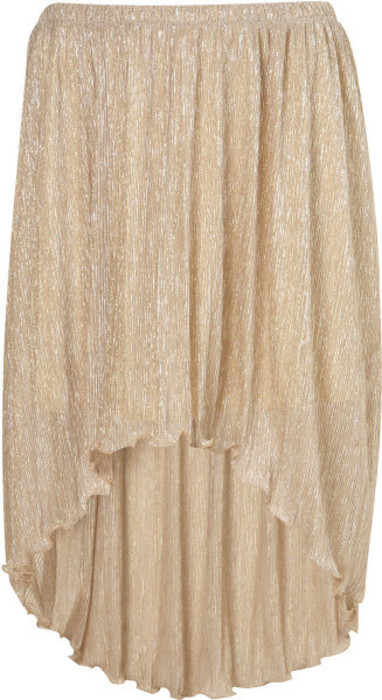 LOVE (in love with fashion) Vokuhila Rock high waist high low Rock gold M - kleiderkreisel.de
