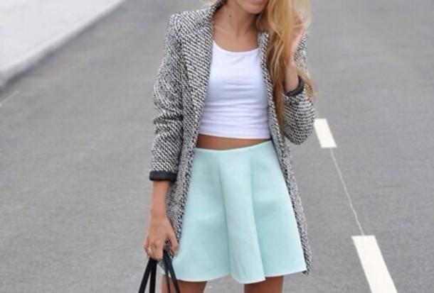 coat tank top skirt