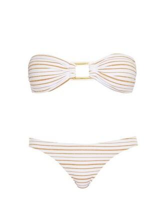 bikini bandeau bikini gold swimwear