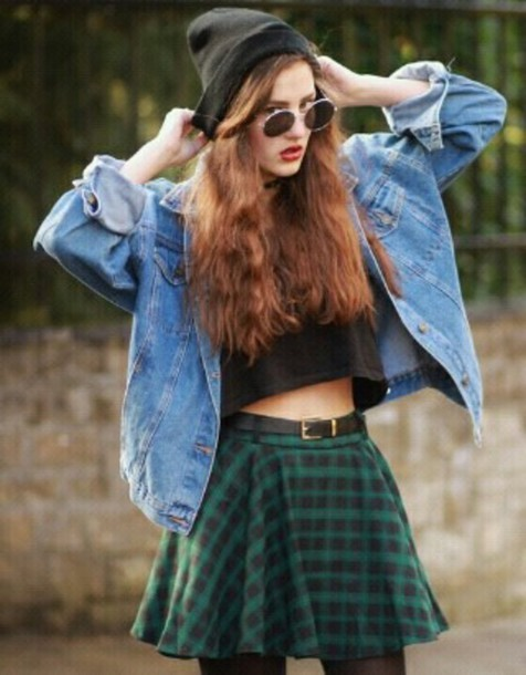 skirt karo vinatge grunge hipster skirt hipster hippie jeans jacket indie