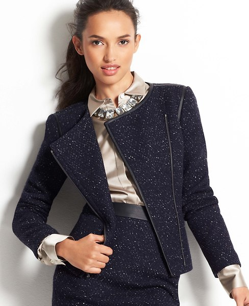 Moto Tweed Jacket | Ann Taylor