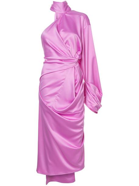 Solace London dress one shoulder dress women purple pink