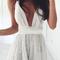 V-neck lace dressv-neck lace dress|disheefashion