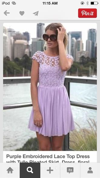 dress flowers on top purple dress