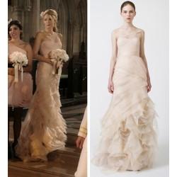 (Serena Vanderwoodsen) Blake Lively Tulle One Shoulder Printed Bridesmaid Dress Gossip Girl Season 5
