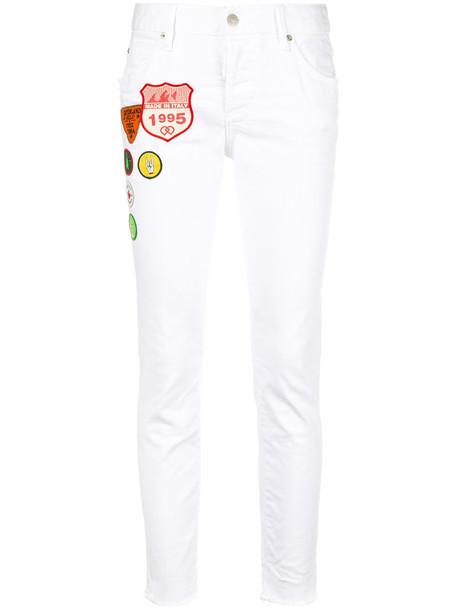 jeans girl cool women spandex white cotton