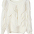 ROMWE | Cable Knit Panel Lace White Jumper, The Latest Street Fashion