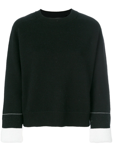 sweater women cotton black silk