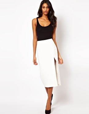 ASOS | ASOS Pencil Skirt with Side Split at ASOS