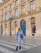 laminlouboutins,blogger,dress,coat,shoes,bag,belt,fur coat,midi dress,fall outfits